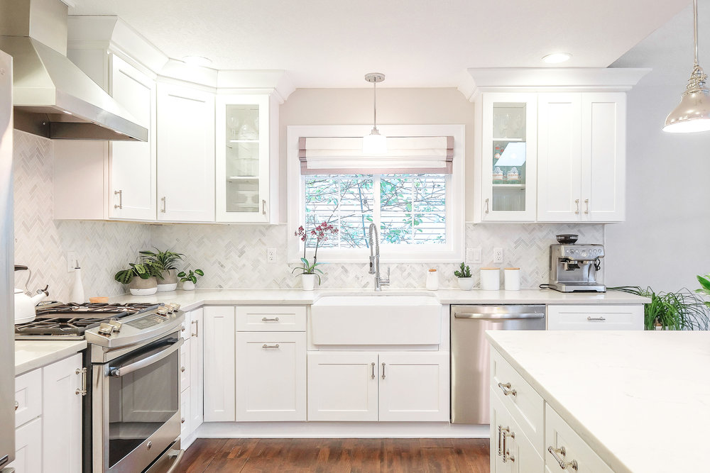 Bright White Kitchen Reno by Harper Rae Design Co