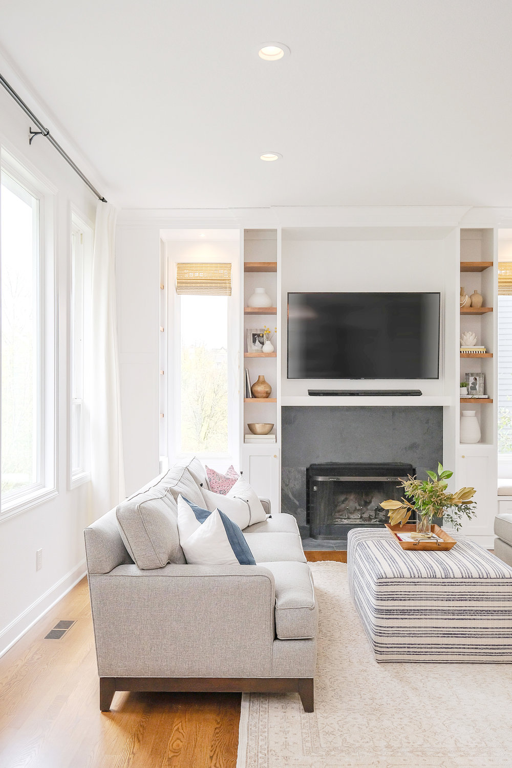 Family friendly great room by Harper Rae Design Co