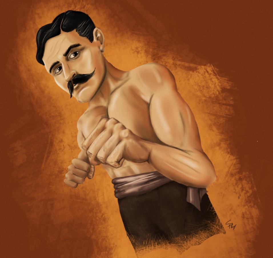 Bare Knuckle Boxing Champion John L. Sullivan by Sean Flanagan