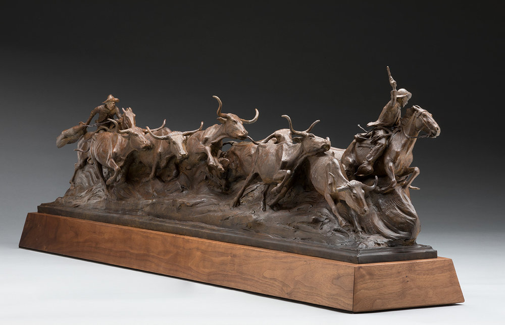 The Midnight Storm, Cattle Drive Art, Lonesome Dove
