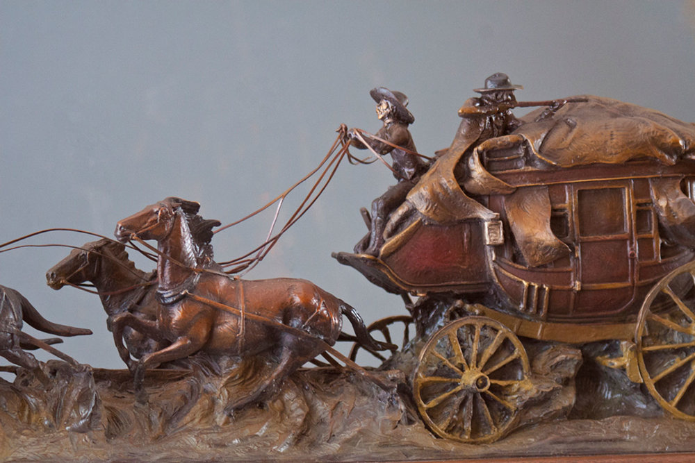 Rough Road to Tombstone, Arizona Art, Historical Art, Stagecoach