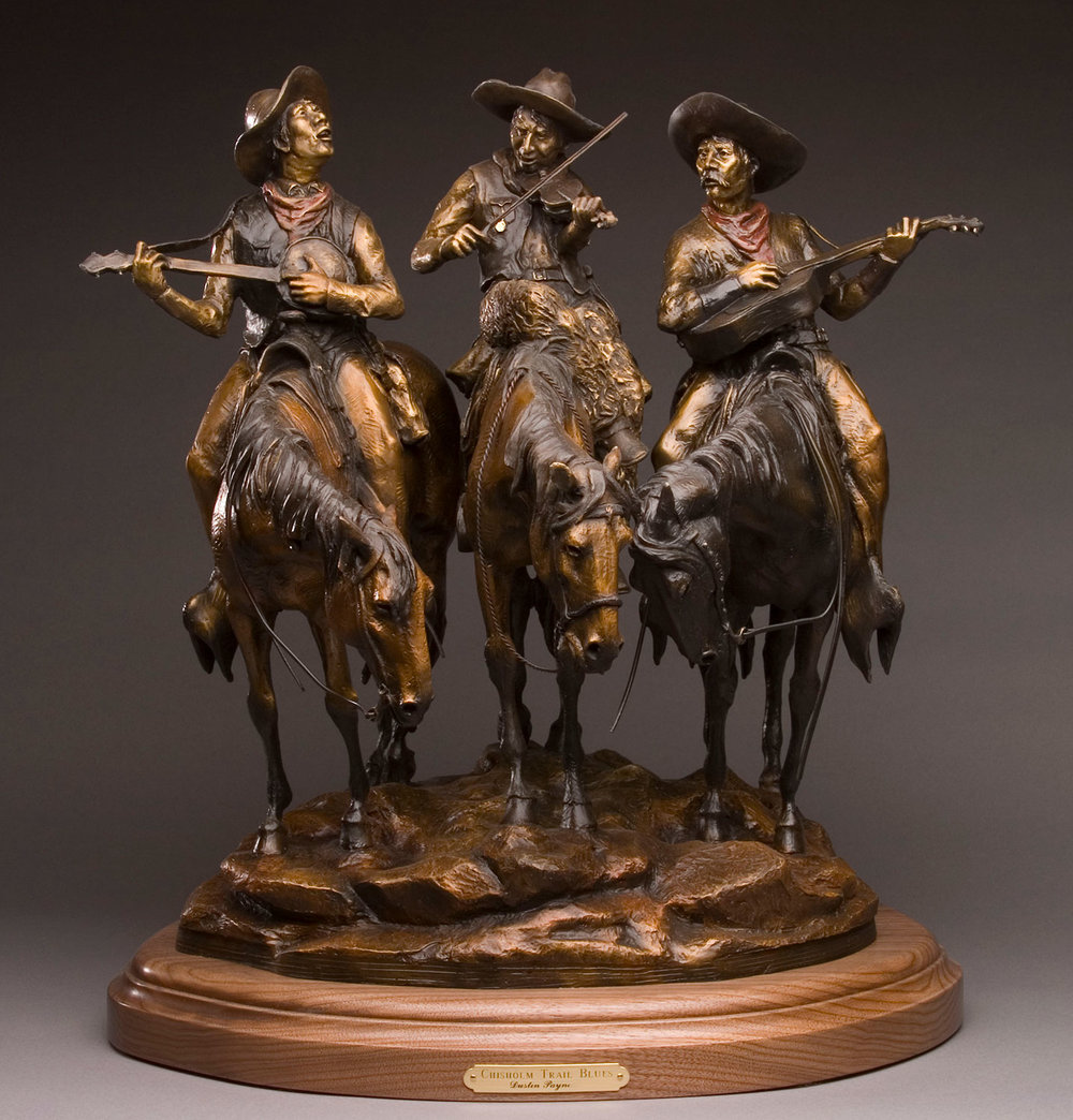 Chisholm Trail Blues, Cowboy Art, Cowboys on horses