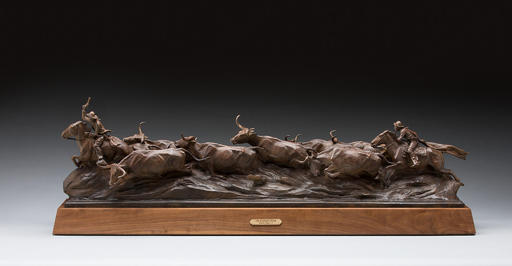 """""""The Midnight Storm"""". Won the Silver Medal for sculpture at the 2018 Cowboy Artists of America Show"""