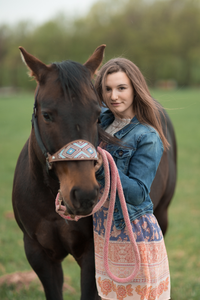 Senior portrait with a horse