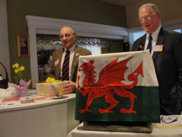 Tom Bernard congratulated and thanked by Robert Bolgard.