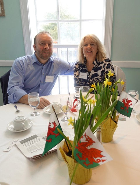 First timers at St David's Lunch: Dave and Ruth Brown