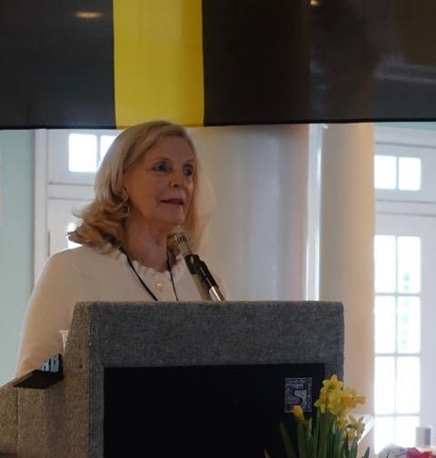 Shirley Gilmartin translated the National Anthem