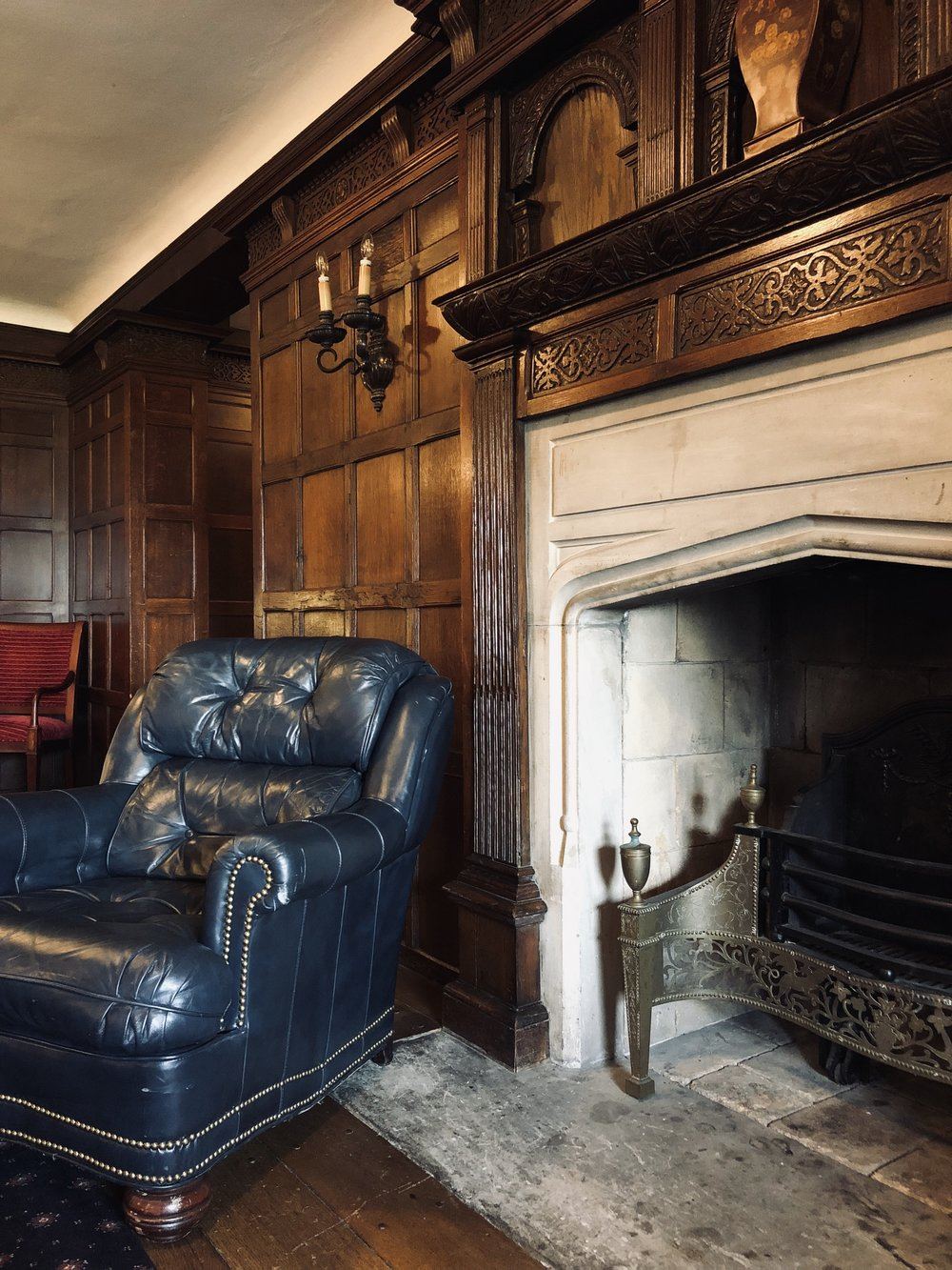 The billiard room in the historic Alger Estate (now called The Veterans Room) is your home for the evening