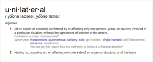 unilateraldefinition