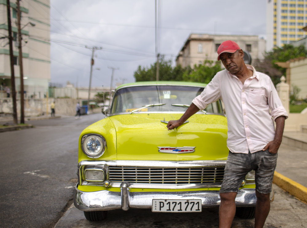 Green Car Driver - I met this guy on one of my evening strolls in Havana. He was excited to share with me the address of the only Indian restaurant in Havana.