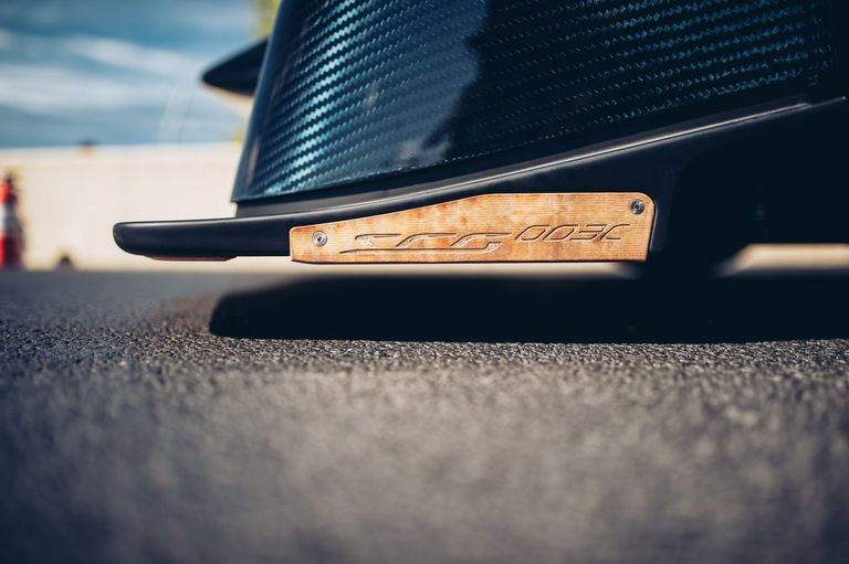 SCG 003CS front splitter with sacrificial wood