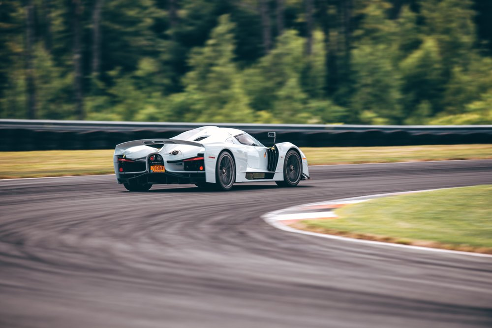 SCG 003S cornering with 2G's of mechanical grip and 1900 pounds of net downforce