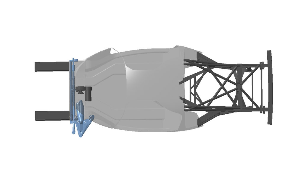 007 LMP Hypercar chassis and front suspension after 10,500 hours of engineering