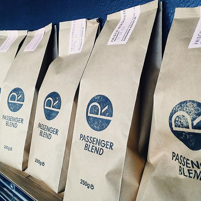 Lots of Passenger retail bags on hand ! We can also grind it for you ... #passengercoffeeroasters #passengerbeans #berlinfrühstück #youstillhavetovisitus