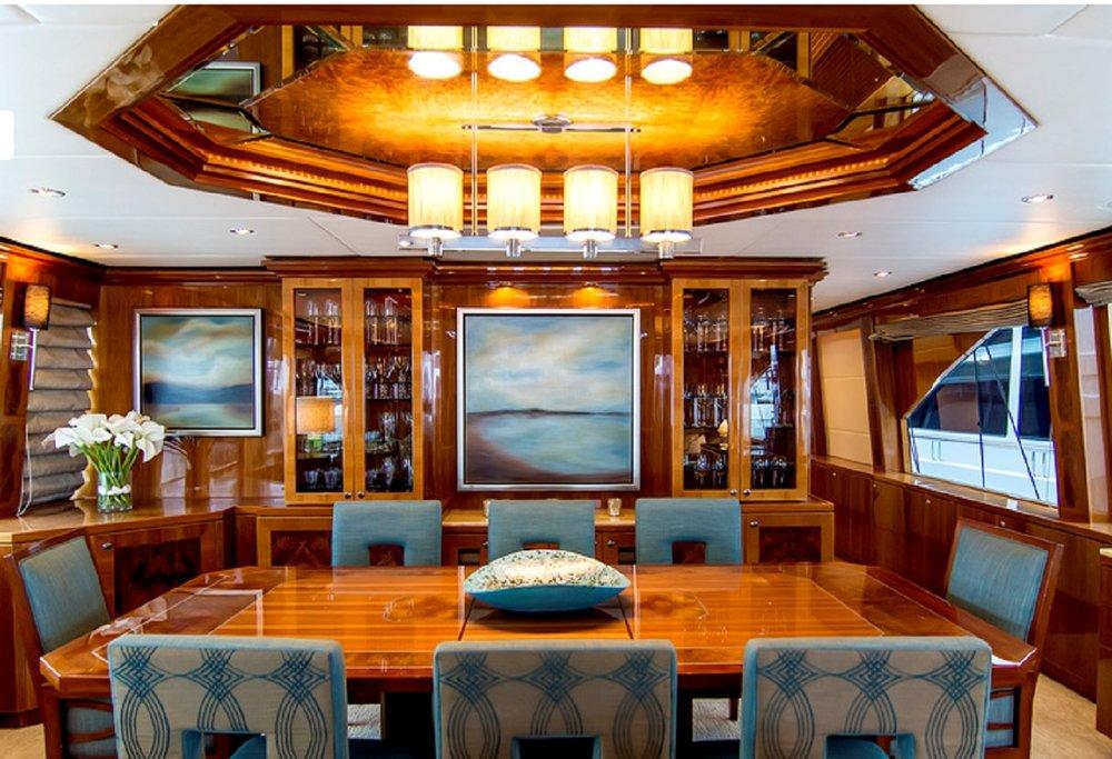 Luxury Charter Yacht Cynderella Dining