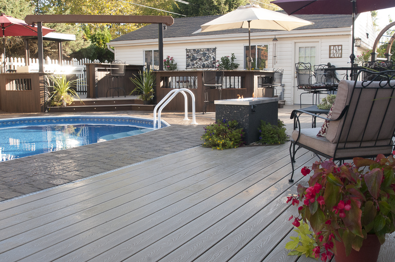 Trex Gray Composite Deck
