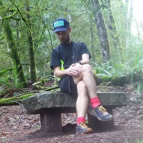 Found a little bench to rest on during my frolic through the shire this afternoon. Do my  #trailsisters  like to sit pretty during their runs, too? Probably not, they're usually too busy bossing it on the trails to mess with  #sittingpretty   #ttcb6   #trailrunningwhilepretty   #notacrime