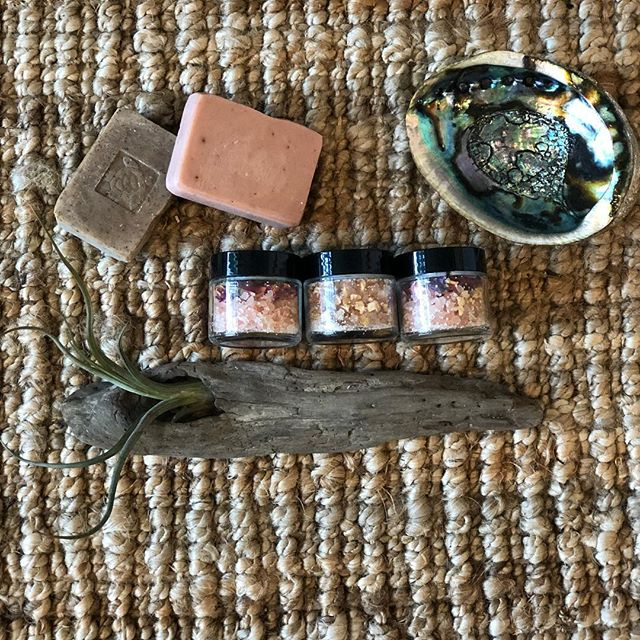 Himalayan Bath Teas + Handmade Soaps/Scrubs Exfoliate, soften, + detox skin.  Energetically cleanse your body.  Available NOW at @balancewellnessboutique !