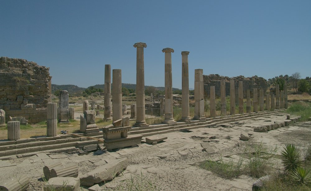 The ruins of ancient Magnesia, located in modern-day Turkey.