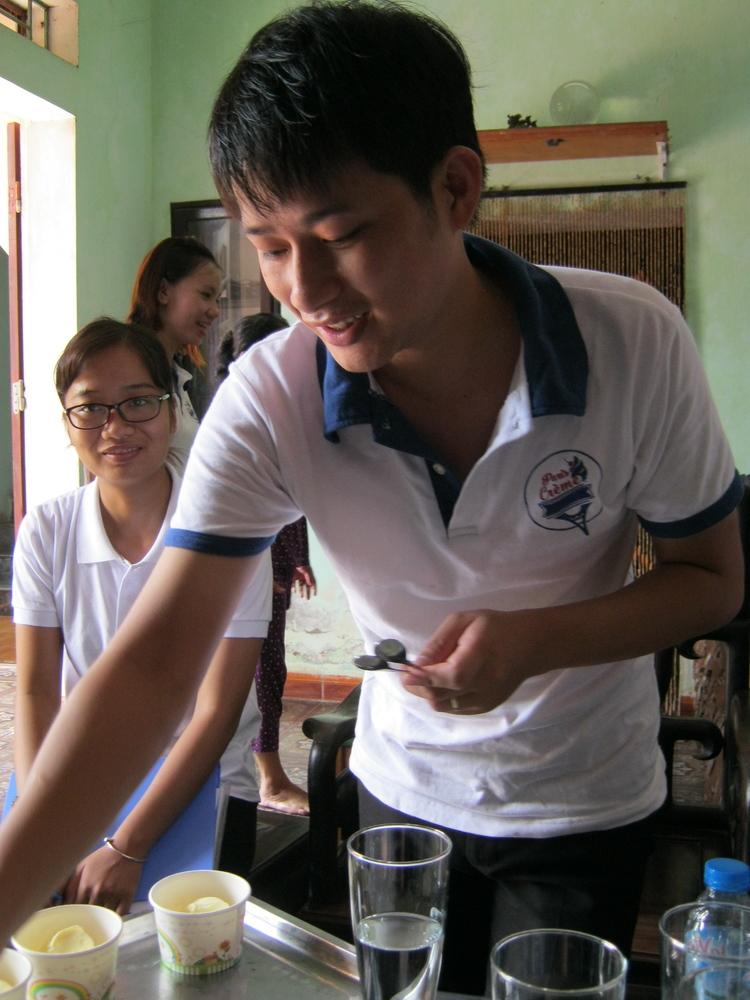 Goo Foo Entrepreneur, Trieu Nguyen Quan, shares his ice cream with our team. Simply delicious!