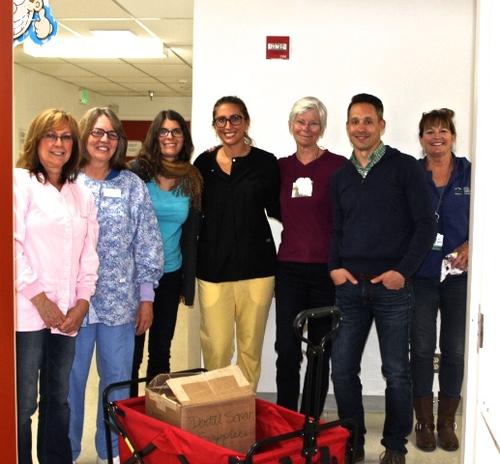 Volunteers at Incline Dental Screening