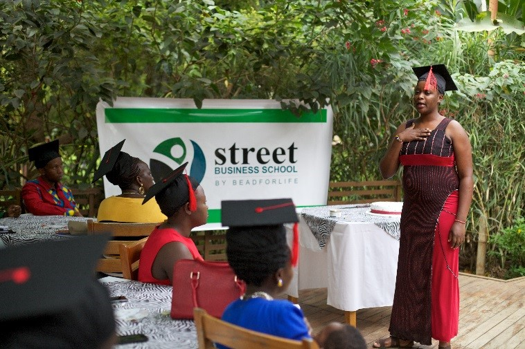 Newest member of the Kesho Kenya team, Elizabeth, sharing how she was living in poverty, became an SBS graduate and now gets to bring SBS to women like her.