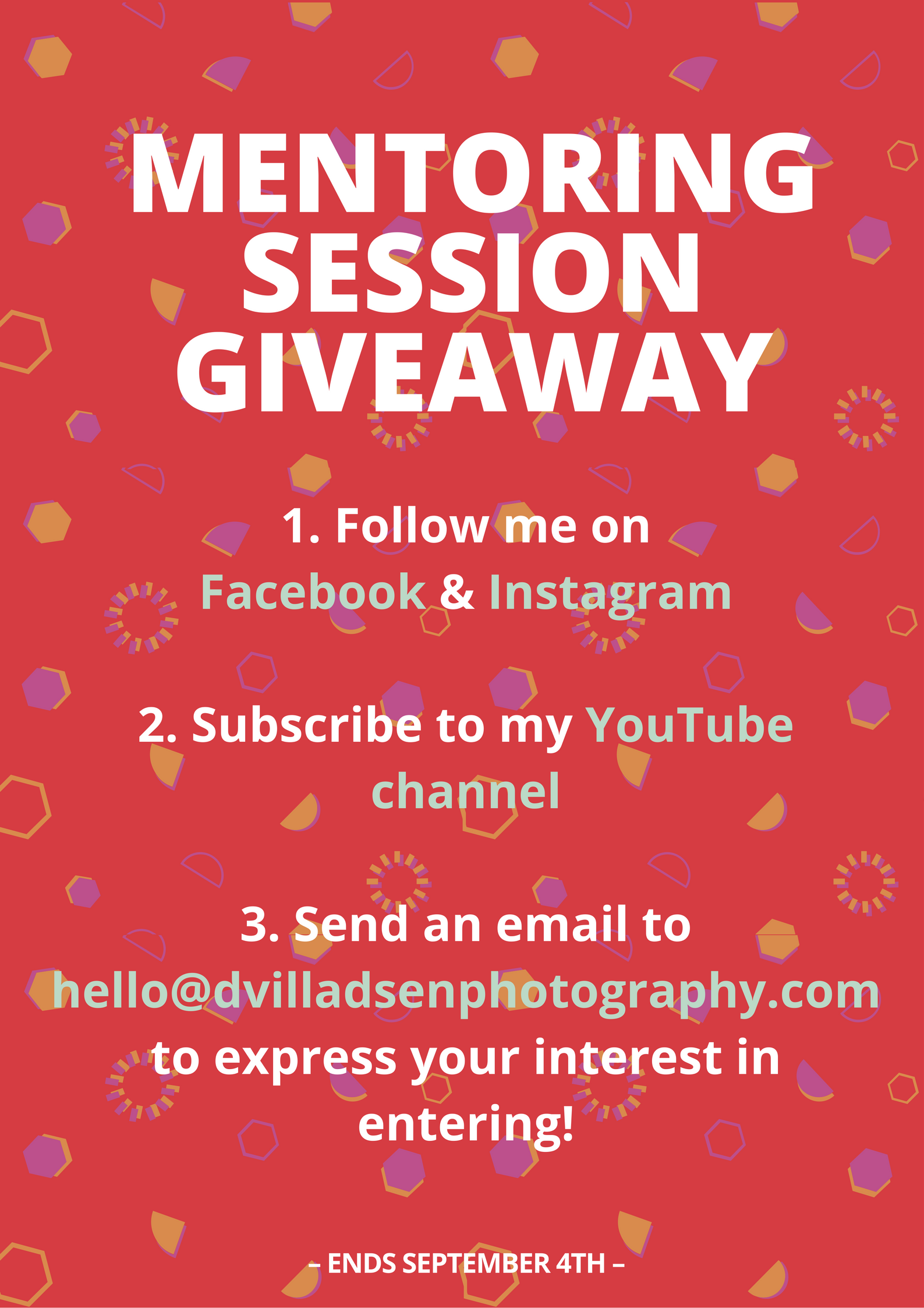 MENTORING SESSION GIVEAWAY