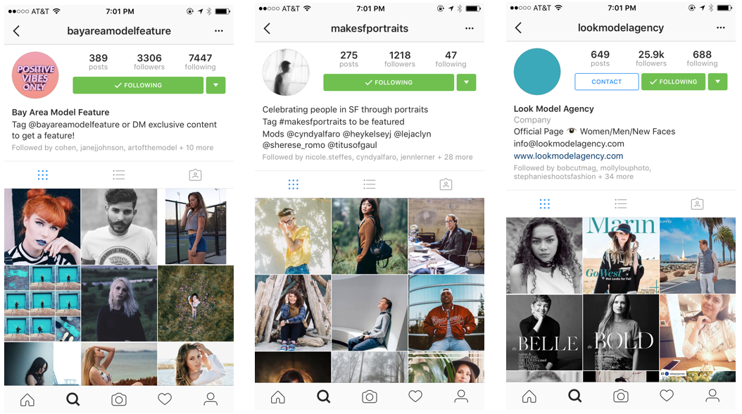 how to find models on instagram