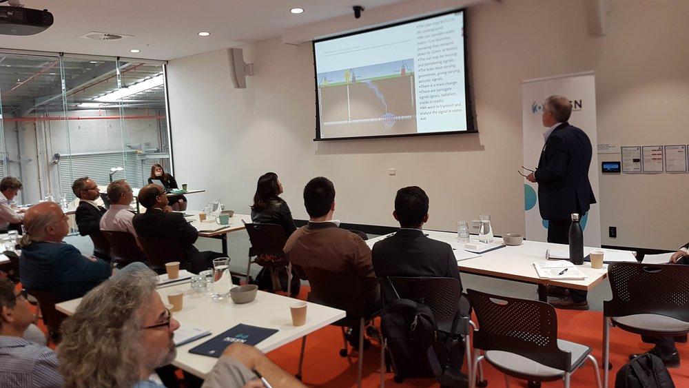 NSSN Co-Director, Prof Ben Eggleton presents to delegates at the workshop