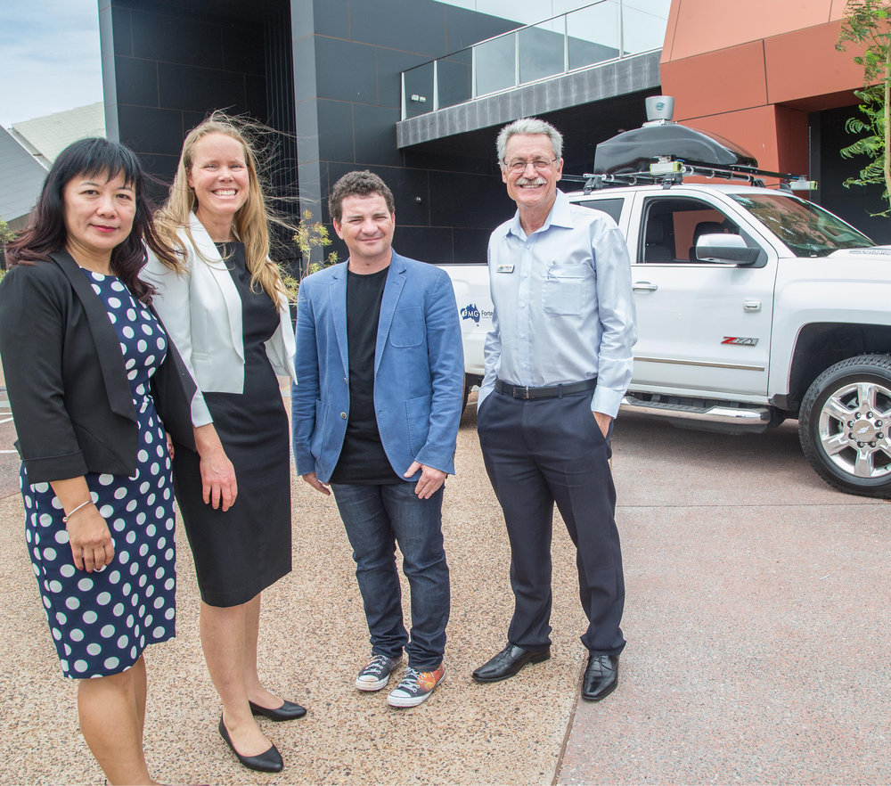 UTS's Prof Fang Chen with partners from Fortescue Metals at the launch of the Fortescue Future of Mobility Centre