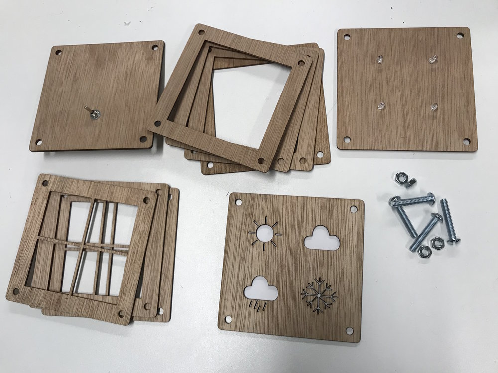Figure 2 : Laser Cut Pieces