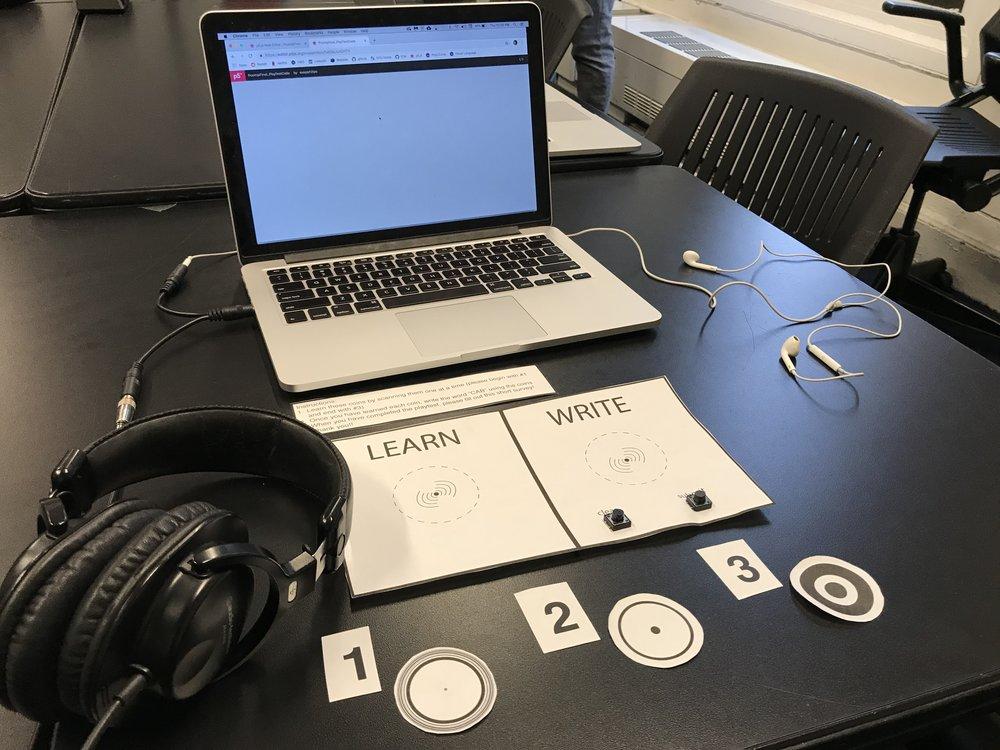 Figure 6 : Initial playtest setup