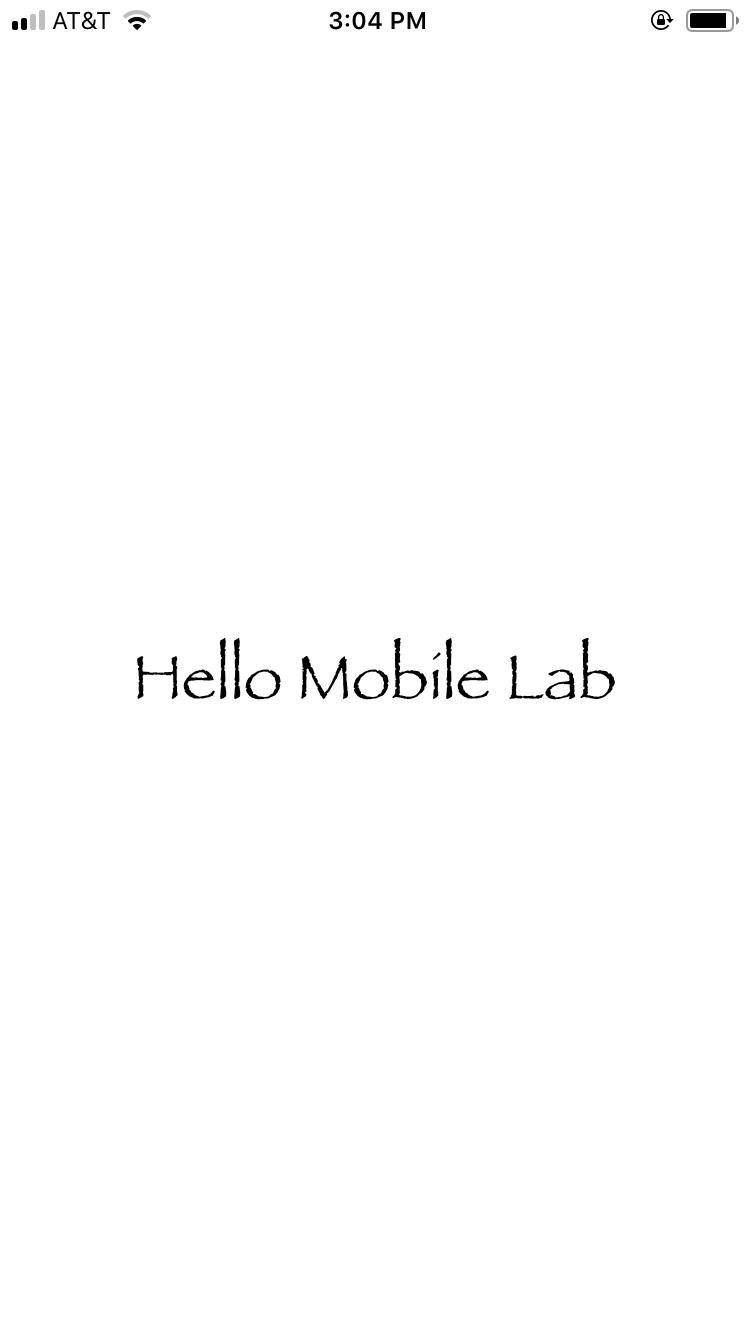 Figure 1 : Hello Xcode Lab