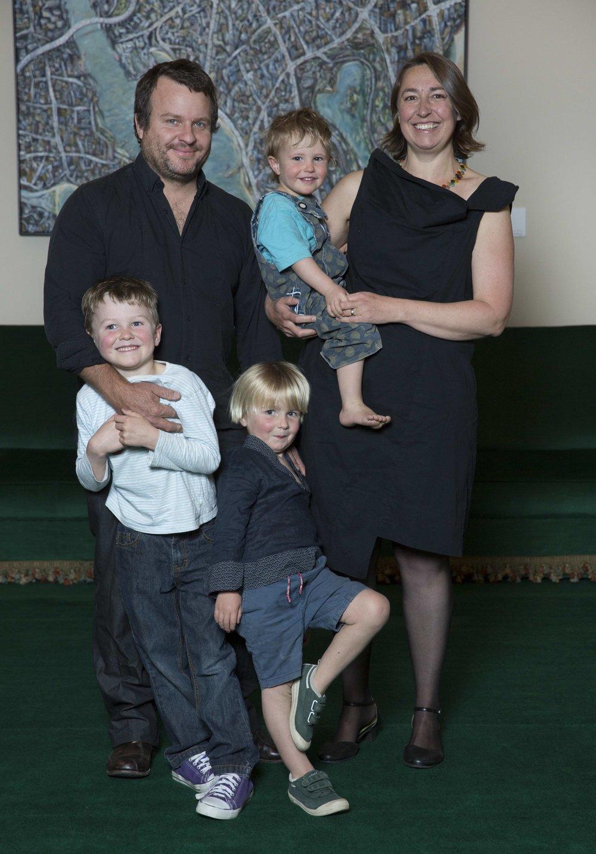 Dr Emily Nicholson and family (Photo credit: Veski)