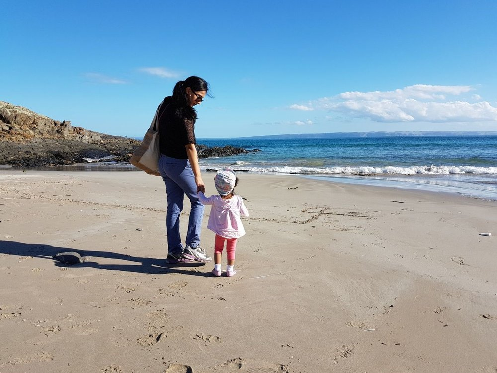 Walks by the beach – family time.