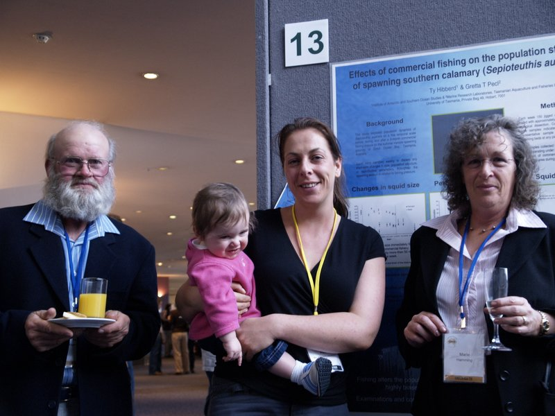 Gretta attends a conference with her daughter with a little help from her parents!