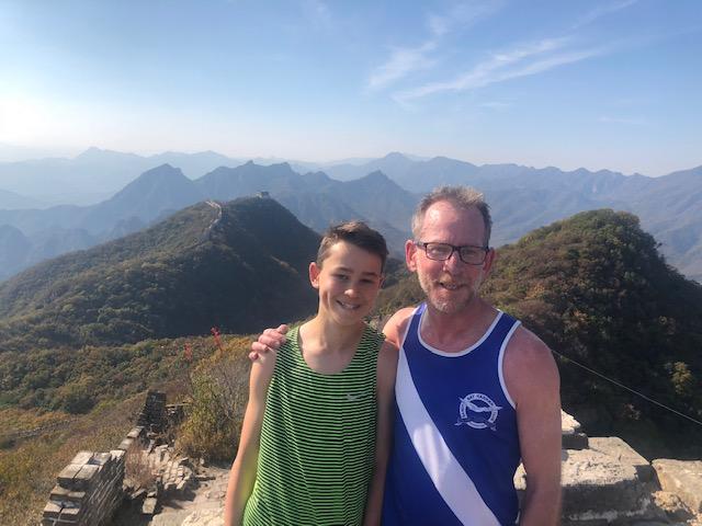 Caleb Gardner & his son