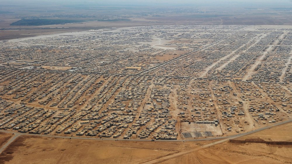 Zatari Refugee Camp, Jordan  Pop: ~79,000