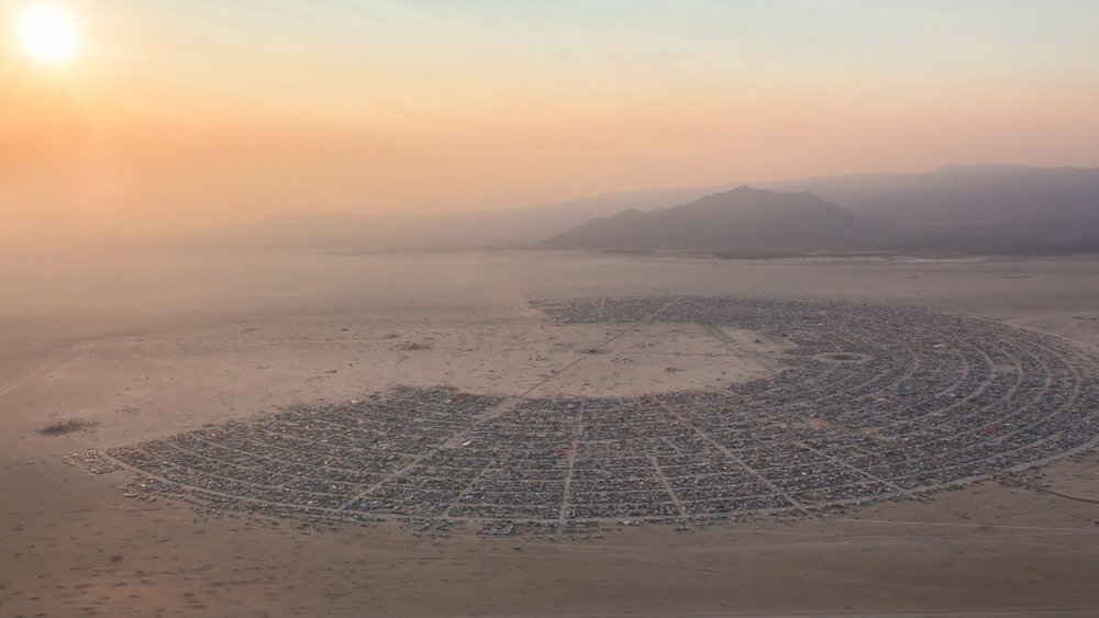 Black Rock City, Nevada  Pop: ~80,000