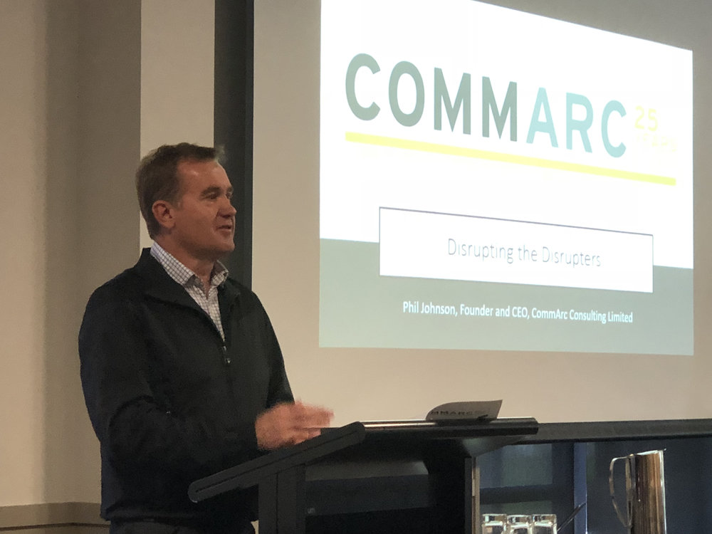 CommArc CEO and found Phil Johnson speaking at the latest NZLaw Practice Managers conference in Christchurch.