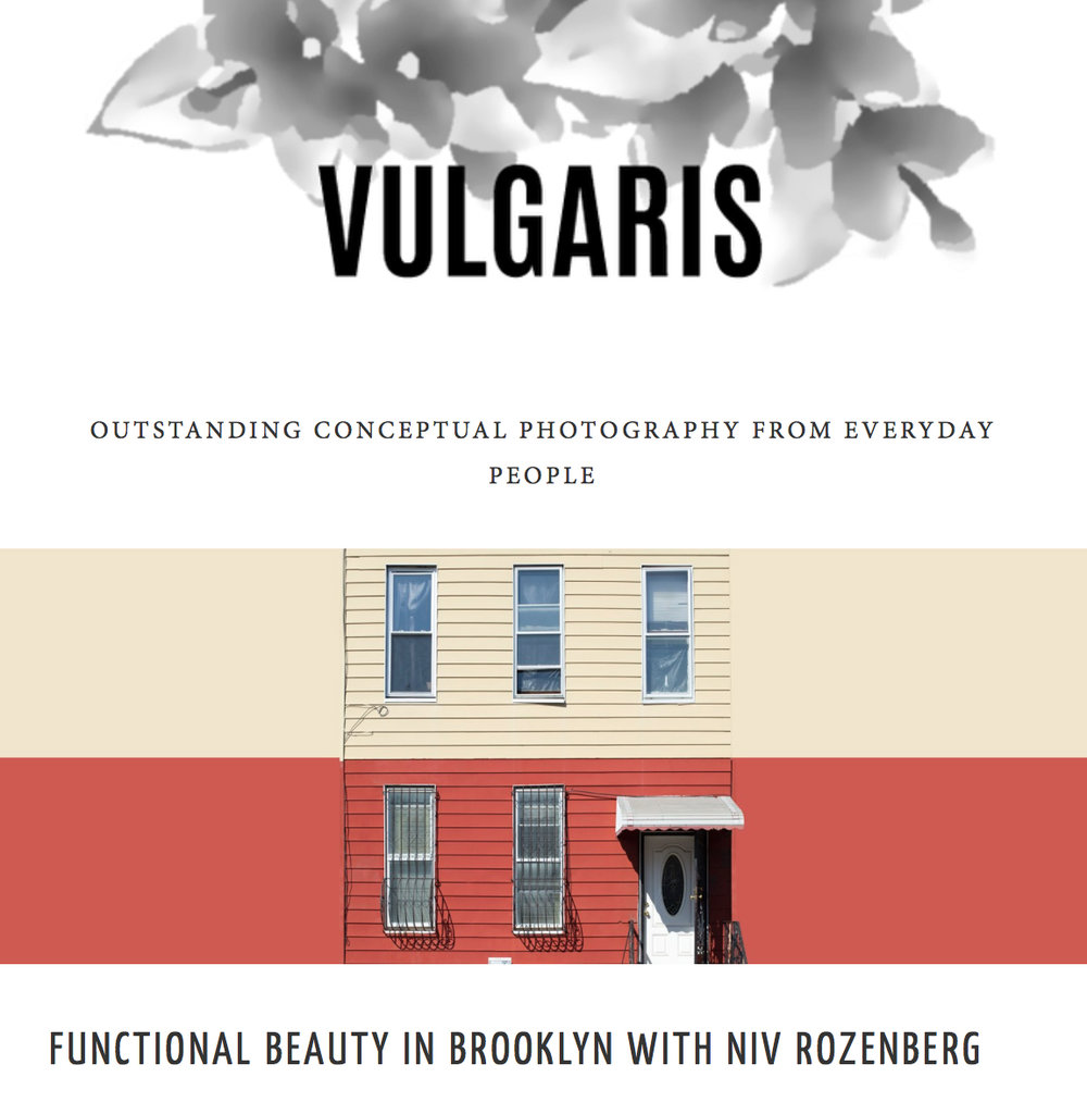 "Interview:VULGARIS MagazineFunctional Beauty in Brooklyn with Niv Rozenberg - ""After moving to New York to further pursue an instruction in photography that began in Jerusalem, Niv Rozenberg began photographing his immediate surroundings in the Brooklyn neighbourhood of Bushwick. The series that grew out of these snippets is called Boswijck, a reference to Bushwick's historic name: ""little town in the woods."" Settled by the Dutch East India Company but soon annexed by the English, Bushwick's tableau over the succeeding 334 years resembles that of many New York neighbourhoods…"""