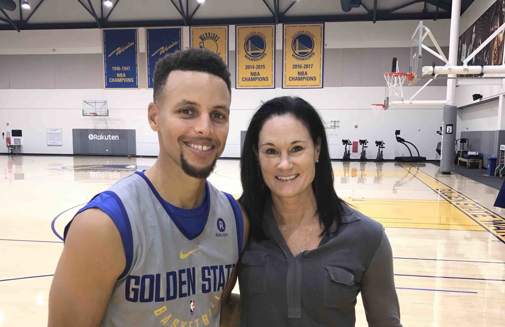 Stephen Curry and Jennifer Azzi