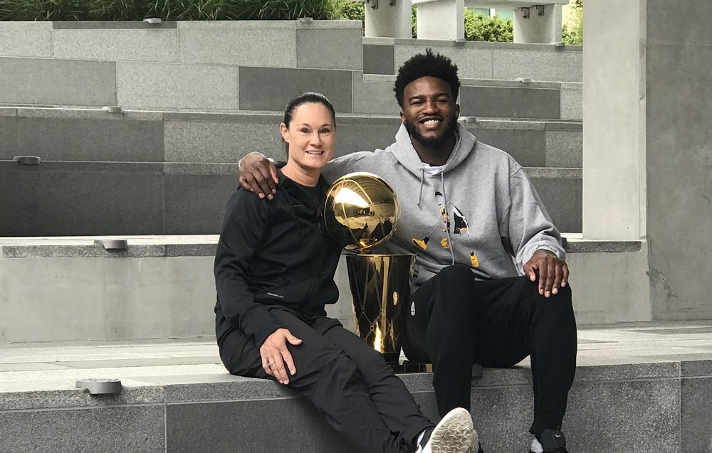 Jennifer Azzi and Jordan Bell