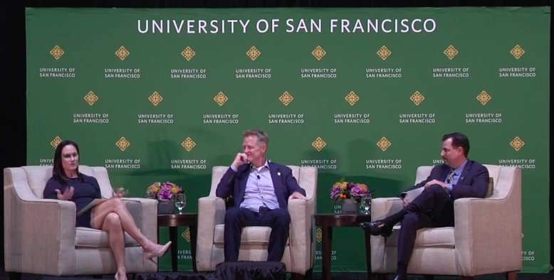 Kerr speaks out at USF silk speaker series - BFWD, october 22, 2018 -