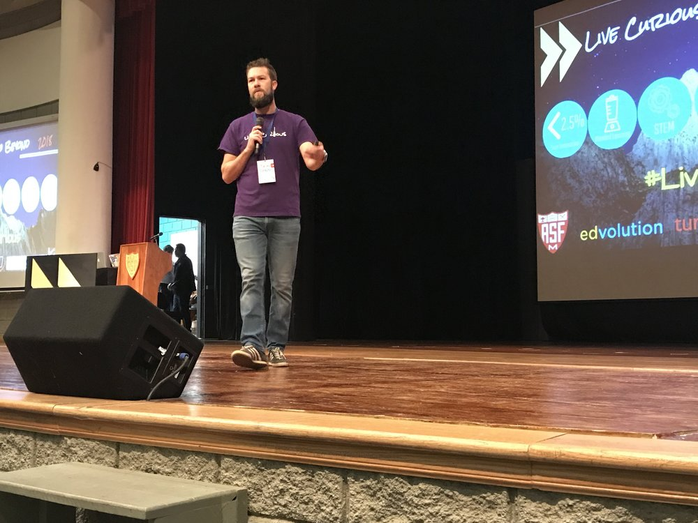 Brian Hamm, opening the Live Curious, Go Beyond conference in Monterrey, Mexico
