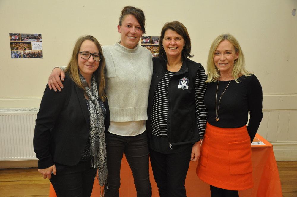 Local AFL leaders - Nat Korinsky, Kate Graham, Carol Cathcart and Karen O'Sullivan