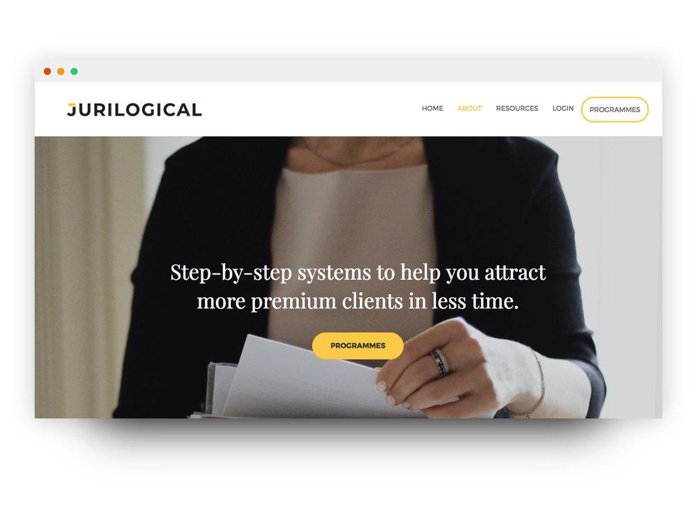 Jurilogical Website Mockup