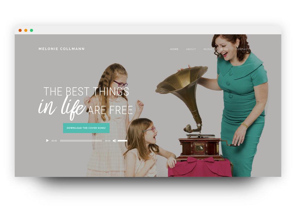 Melonie Collmann website mockup