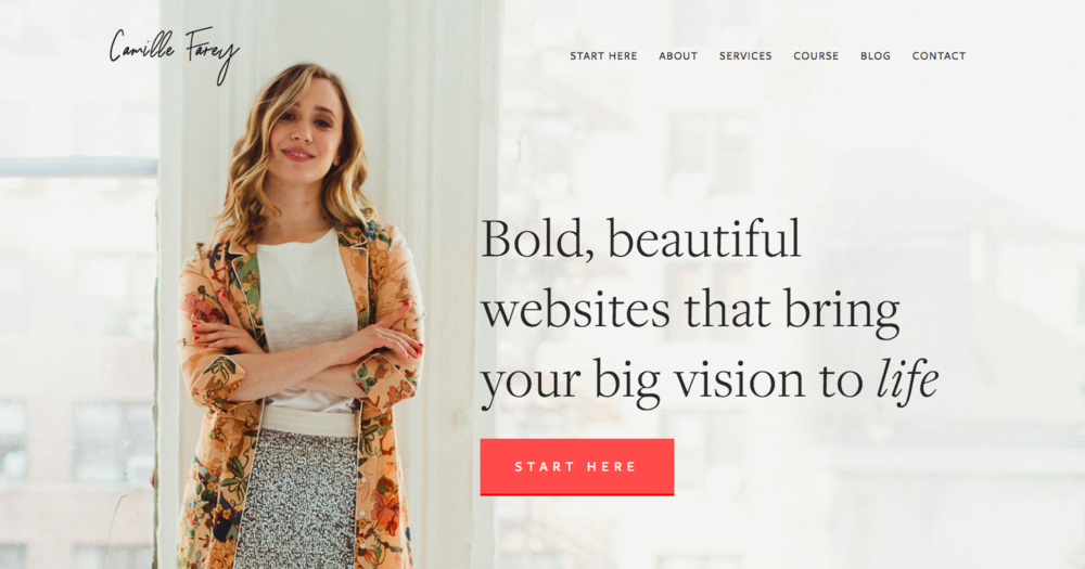 I used Squarespace to create my website