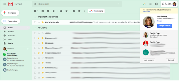 I use G-Suite to run my business inbox